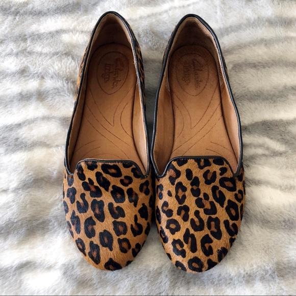 clarks leopard print loafers Shop